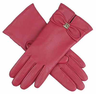 Dents ladies Hairsheep Leather Gloves with Bow Detail