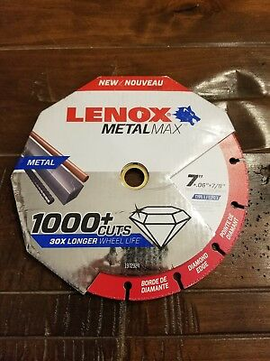 "Lenox 1972924 Metal Max Diamond Cut Off Wheel AG/CS 7"" X 7/8"""