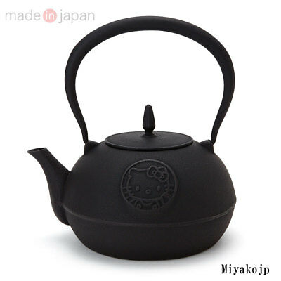 Hello Kitty Tea Japanese Iron Nanbu Teapot Ketlte TETSUBIN Japan Rare New EMS