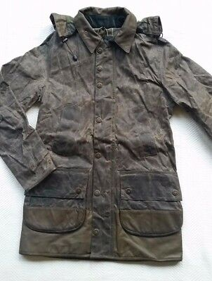 Barbour X Adidas Adiwick Men's Waxed Cotton Jacket - Olive, Size Small  RARE