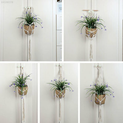 0902 Handmade Flowerpot Plant Hanging Holder Basket Weaving Decor Decoration Vin