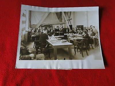 Vintage Rare Zeppelin Airship Shenandoah Naval Court Press Photo Dated 1925