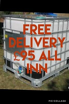 Fuel Storage Tank 1000 Litres ( FREE DELIVERY) £95 All In Ibc Tank Red Diesel