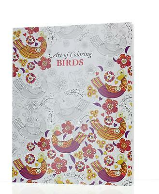 Art of Colouring Birds Adult Colouring Book A4 Size 24 Pages Relaxing Therapy