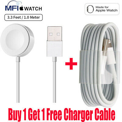 Magnetic Charging Cable Wireless Charger Pad For Apple Watch/iWatch Series 4/3/1