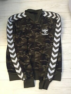 Stunning  Trendy Deadstock Hummel Retro Camo Track Top Xl 42 Chest