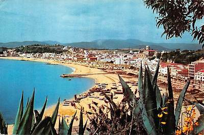Spain Costa Brava Blanes, General view of the Shore Playa Boats