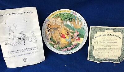 New BRADFORD EXCHANGE DISNEY 3D PLATE, TIME FOR A LITTLE SOMETHING 13031