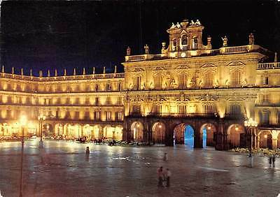 Spain Salamanca Plaza Mayor y Ayuntamiento Iluminados, Main Square Town Hall