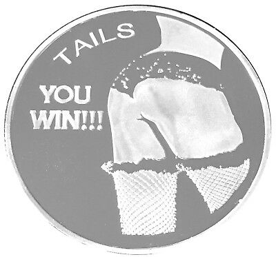 Tail Fin Win Texas Holdem Good Luck Token Head Tail Coin US SELLER FAST SHIPPING