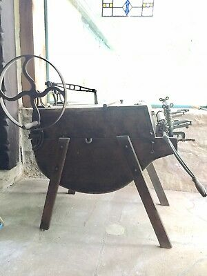 Antique Hand Operated Wooden Boss Washing Machine With Pioneer Wringer