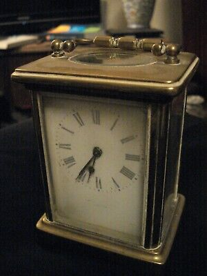 Antique Brass Carriage Clock (Working With Original Key)