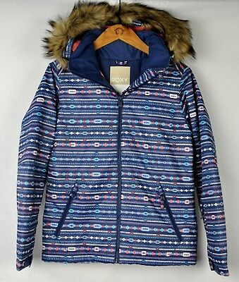 d9a5c210e457 GIRLS  ROXY AMERICAN Pie Print Insulated 10K Snow Jacket Snowboard ...