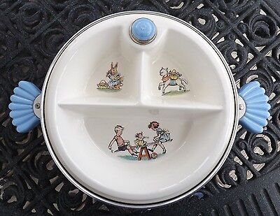 """Majestic Child's Divided Warming Dish. Made in USA 8"""" Nice Condition"""