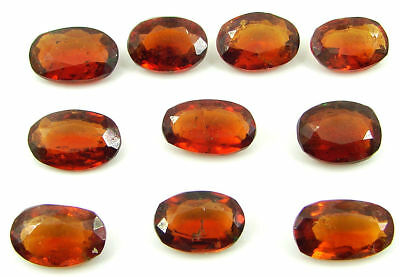 52.25 Ct Natural Hessonite Loose Gemstone Oval Cut Stone Lot of 10 Pcs - 22746