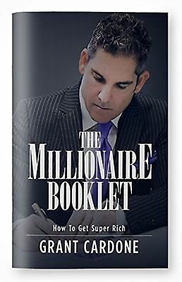 NEW Audio Book The Millionaire Booklet How to Get Super Rich by Grant Cardone