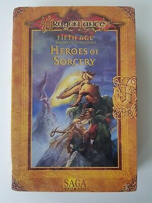 AD&D 2nd Edition Dragonlance Fifth age Heroes Of Sorcery Boxed Set TSR 1997 SAGA