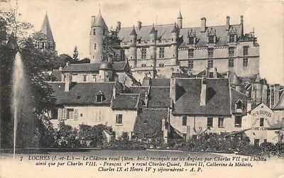 France Loches Le Chateau Royal, Schloss Castle Partial view