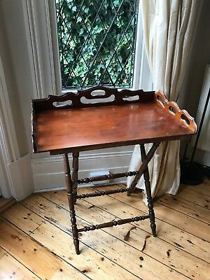 High Quality Antique Style Butler's Tray And Stand