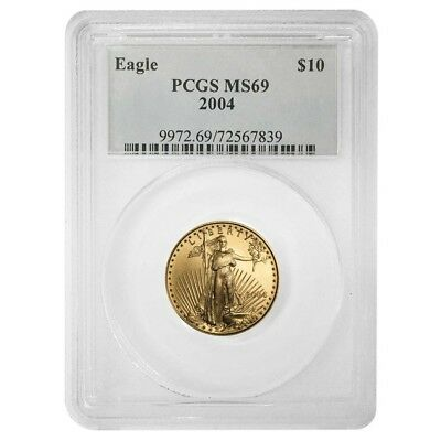2004 1/4 oz $10 Gold American Eagle PCGS MS 69