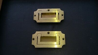Victorian style writing slope / box inset brass handles
