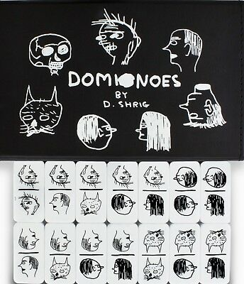 Limited Edition 28-piece Domino Set by David Shrigley