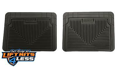 Husky Liner 52021 Black Heavy Duty 2nd Or 3rd Seat Floor Mats for 87-12 GM 2/4WD