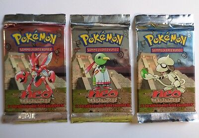 Lot Boosters Neo Discovery Pokemon Wizards Scellés (x3)