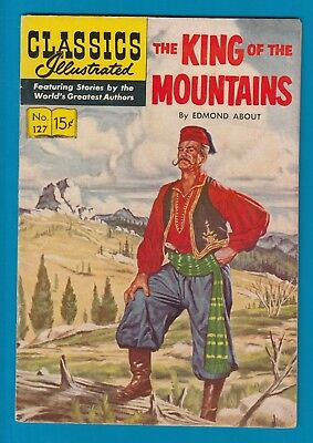 Classics Illustrated Comic 1955 The King of the Mountains #127  Very RARE  #788