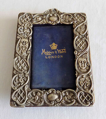 Vintage Silver Picture Frame with Grotesque Faces Masks Mappin & Webb for Repair