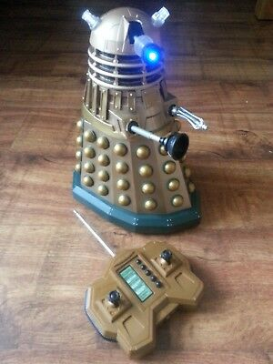 """Doctor Who 12"""" Bronze Dalek Remote Radio Controlled 2005 Character Options Rc"""