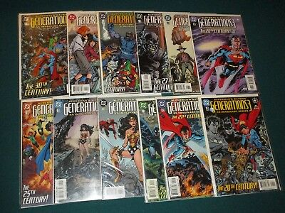 BATMAN SUPERMAN GENERATIONS 3 COMPLETE SET 1 2 3 4 5 6 7 8 9 10 11 12 Near Mint