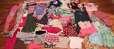 Lot of Baby Girl 12 Months to 4T Clothing All Seasons Lot of 80 Baby Items