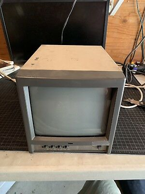 Monitor Broadcast Color 9 inch Square CRT JVC TM-A9UCV Retro Gaming PVM