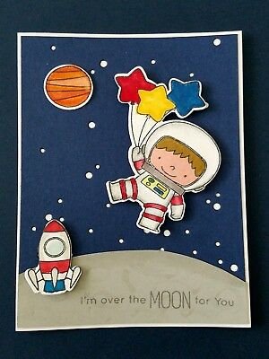 Space Explorer Blank Greeting Card Handmade Birthday Love