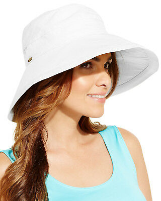 SCALA WOMEN S WHITE Cotton Big Brim Bucket Sun Hat -  12.99  63877518c689