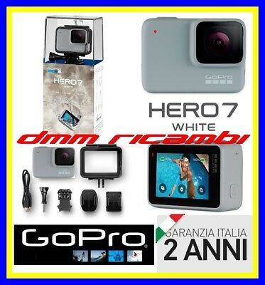 ActionCam GOPRO HERO7 White LCD TOUCH WiFi 1080 60Fps HERO 7 Garanzia Italia