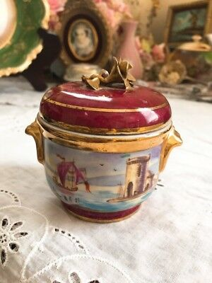Antique  Original SEVRES FRANCE Dresser Box Jar