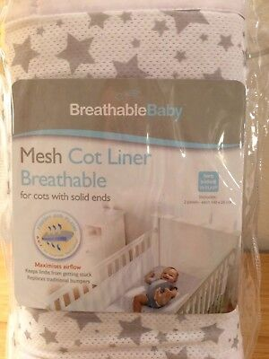 Breathable Baby Mesh Cot Liner / Cot Bumper Breathable