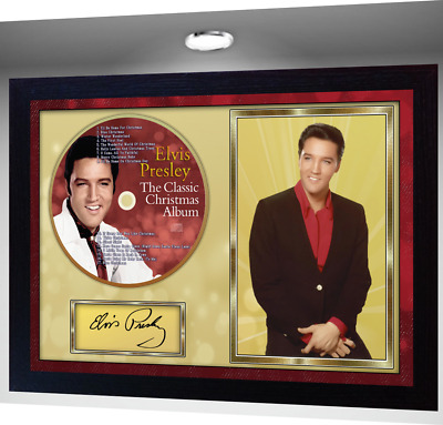 Elvis Presley The Classic Christmas Album SIGNED FRAMED PHOTO CD Disc