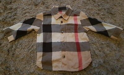 Burberry Baby Boys Beige Exploded Nova Check Long Sleeve Shirt Age 0 3 month