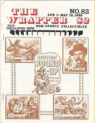 THE WRAPPER No.82  NON-SPORTS CARDS COLLECTIBLES - JACKIE COOGAN, ROUND-UP, 1989