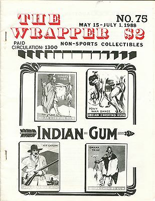 THE WRAPPER No 75 NON-SPORTS CARDS COLLECTIBLES, INDIAN GUM, CARDS OF 1951, 1988