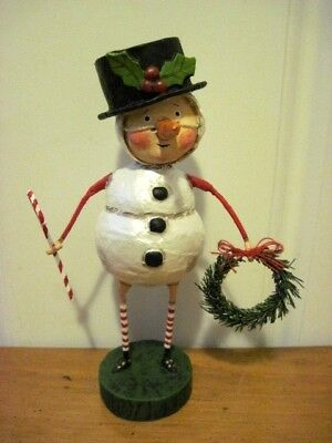 """Lori Mitchell ESC NEW Christmas Snowman """"Chilly Willy"""" Figure"""