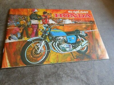 1969 Honda  Ad Advertisement Flyer Brochure 20 Motorcycles nice