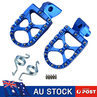 CNC MX Foot Pegs Footrests For Yamaha YZ85 YZ125 YZ250 YZ450 WR250F WR450F