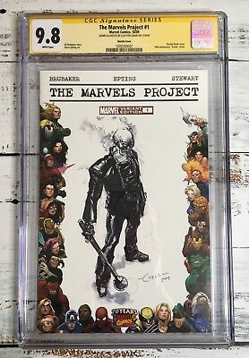Marvel Projects CGC 9.8 SS Clayton Crain Signed and Full Ghost Rider Sketch