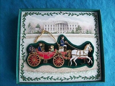 2001 White House Historical Association Christmas Ornament