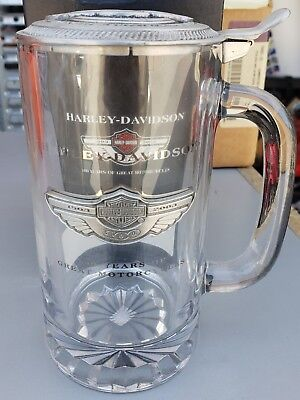 Harley Davidson 100th Anniversary Stein with pewter lid.