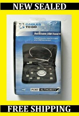 Cables to Go Port Authority2 Retractable USB Travel Kit